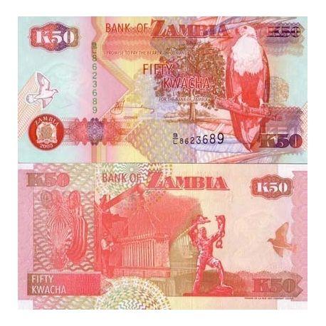Billets de collection Billets banque Zambie Pk N° 37 - 50 Kwacha Billets de Zambie 1,00 €