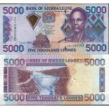 Collezione banconote Sierra Leone Pick numero 28 - 5000 Leone