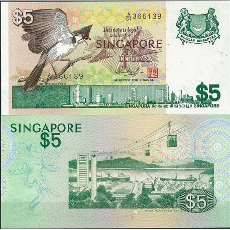 Billet de banque Singapour Pk N° 10 - de 5 Dollars
