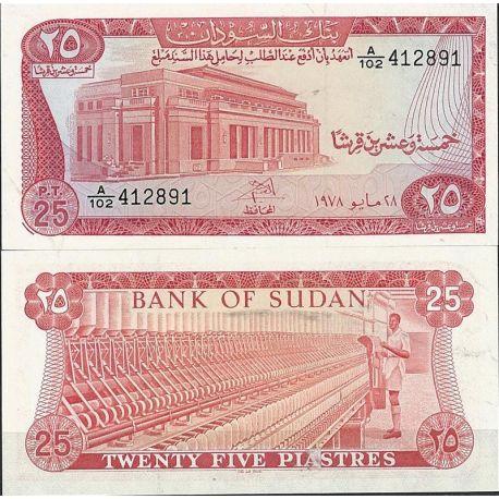 Billet de banque Soudan Pk N° 11 - de 25 Piastres