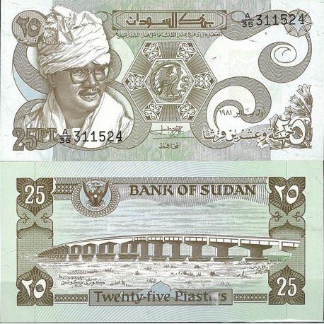 Billet de banque Soudan Pk N° 16 - de 25 Piastres
