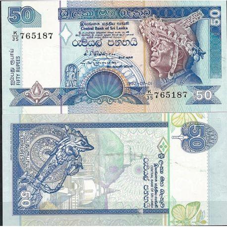 Billets de collection Billet de banque Sri Lanka Pk N° 104 - de 50 Rupees Billets du Sri Lanka 9,00 €