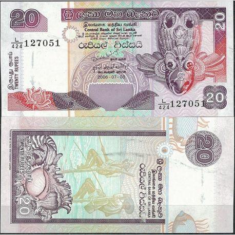 Billets de collection Billet de banque Sri Lanka Pk N° 116 - de 20 Rupees Billets du Sri Lanka 3,00 €
