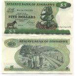 Billets collection Zimbabwe Pk N° 2 - 5 Dollars