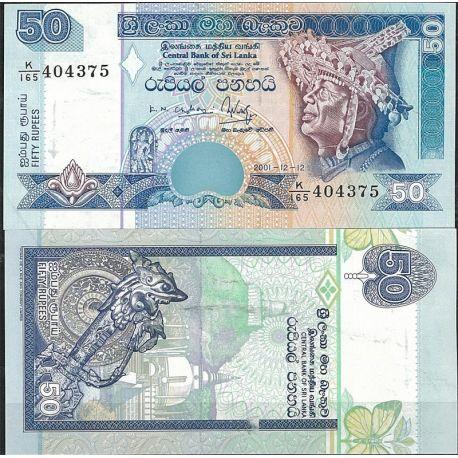 Billets de collection Billet de banque Sri Lanka Pk N° 117 - de 50 Rupees Billets du Sri Lanka 4,50 €