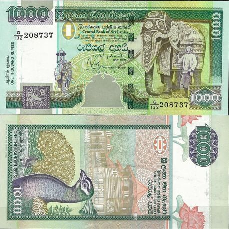 Billets de collection Billet de banque Sri Lanka Pk N° 120 - de 1000 Rupees Billets du Sri Lanka 41,00 €
