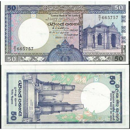 Billets de collection Billet de banque Sri Lanka Pk N° 98 - de 50 Rupees Billets du Sri Lanka 10,00 €