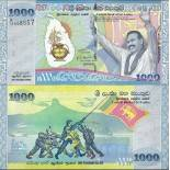 Collection of Banknote Sri Lanka Pick number 122 - 1000 Roupie
