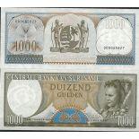 Banknoten Suriname Pick Nummer 124 - 1000 Gulden
