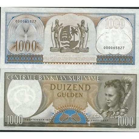 Surinam - Pk N° 124B - Billet de banque de 1000 Gulden