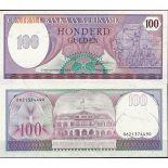 Banconote Suriname Pick numero 128 - 100 Gulden