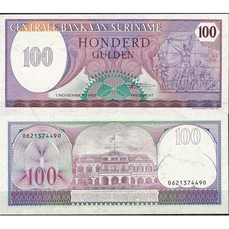 Surinam - Pk N° 128B - Billet de banque de 100 Gulden