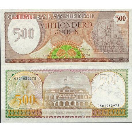 Surinam - Pk N° 129 - Billet de banque de 500 Gulden