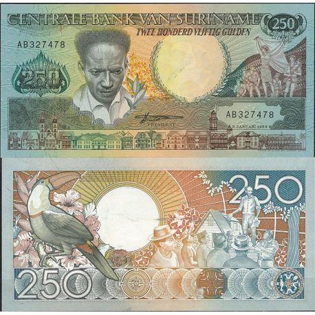 Surinam - Pk N° 134 - Billet de banque de 250 Gulden