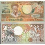 Billet de banque Surinam Pk N° 135 - de 500 Gulden