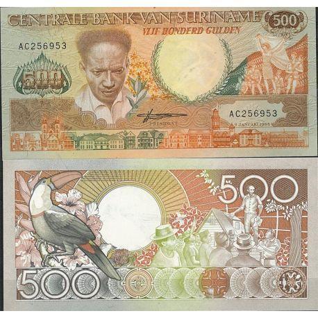 Surinam - Pk N° 135 - Billet de banque de 500 Gulden