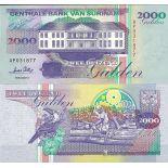 Banknoten Suriname Pick Nummer 142 - 1000 Gulden