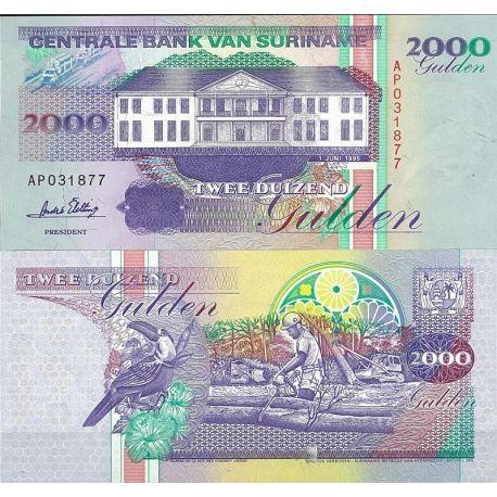 Surinam - Pk N° 142 - Billet de banque de 1000 Gulden