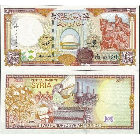 Billets de collection Billet de banque Syrie Pk N° 109 - de 200 Pounds Billets de Syrie 17,00 €