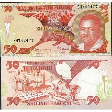 Tanzanie - Pk N° 19 - Billet de banque de 50 Shilings