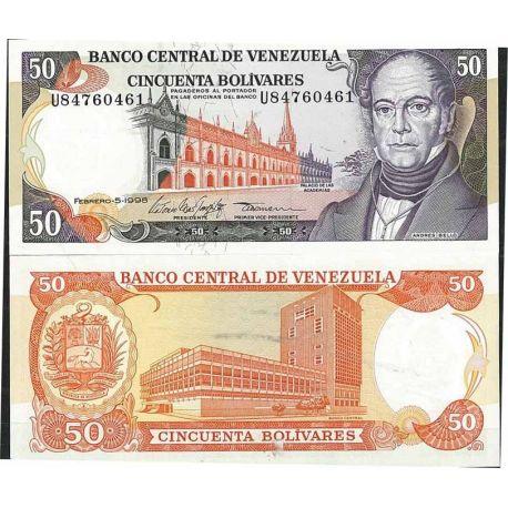 Venezuela - Pk N° 65 - Billet de banque de 50 Bolivares