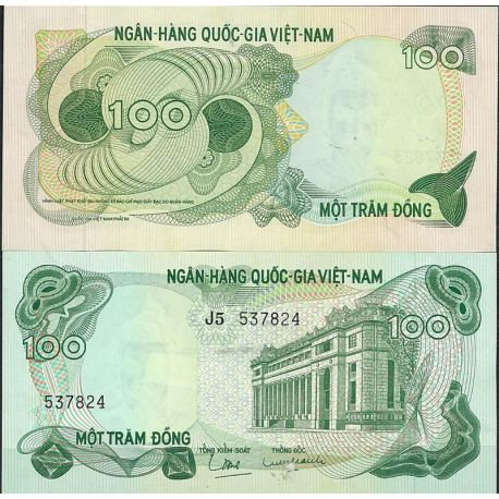 Billets de collection Billet de banque Vietnam Sud Pk N° 26 - de 100 Dong Billets du Vietnam Sud 8,00 €