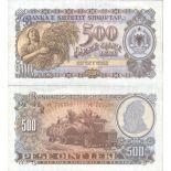 Billet de banque Albanie Pk N° 31A - de 500 Leke