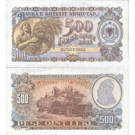Billets de collection Billet de banque Albanie Pk N° 31A - de 500 Leke Billets d'Albanie 20,00 €