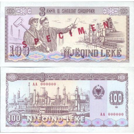 Albanie - Pk N° 47S - Billet de banque de 100 Leke