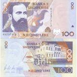Colección de billetes Albania Pick número 62 - 100 Lei 1996