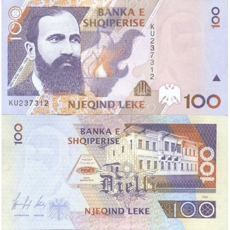 Albanie - Pk N° 62 - Billet de banque de 100 Leke