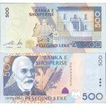 Colección de billetes Albania Pick número 68 - 500 Lei 2001