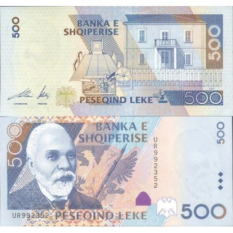 Billets de collection Billet Albanie collection 500 Leke Pk N° 68 Billets d'Albanie 19,00 €