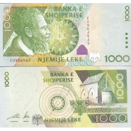 Billets de collection Billet Albanie Pk N° 69 - Billet de banque 1000 Leke Billets d'Albanie 29,00 €