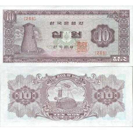 Billets de collection Coree Nord Pk N° 33C - 10 Won