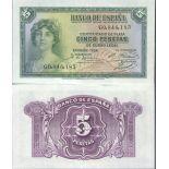 Billets de collection Espagne Pk N° 85 - 5 Pesetas