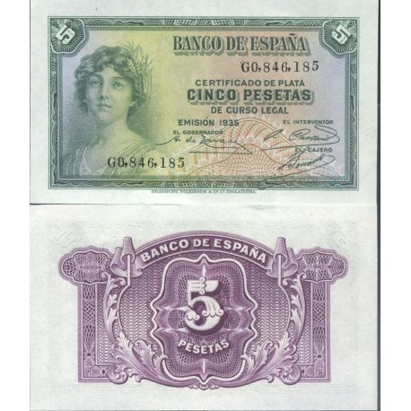 Billets de collection Billets de collection Espagne Pk N° 85 - 5 Pesetas Billets d'Espagne 20,00 €