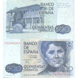 Billets de collection Espagne Pk N° 157 - 500 Pesetas