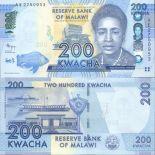 Sammlung von Banknoten Malawi Pick Nummer 60 - 200 Kwacha
