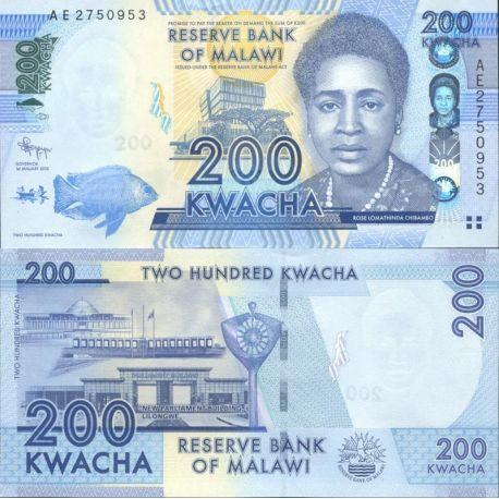 Billets de collection Malawi Pk N° 999 - 200 Kwacha