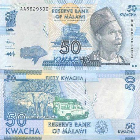 Malawi - Pk N° 999 - Billet de banque de 50 Kwacha