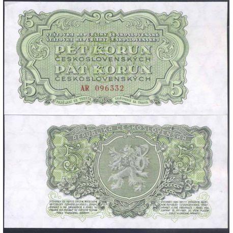 Tchecoslovaquie - Pk N° 80A - Billet de banque de 5 Korun