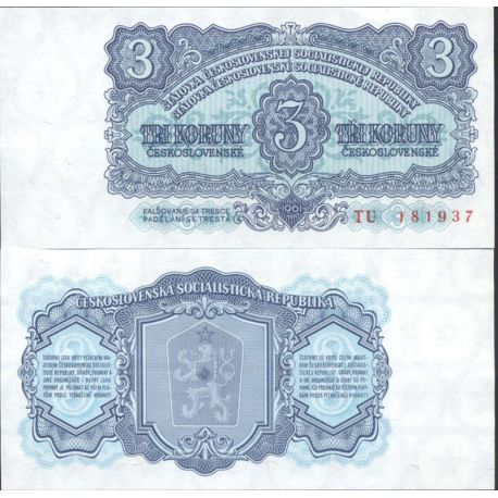 Tchecoslovaquie - Pk N° 81 - Billet de banque de 3 Korun