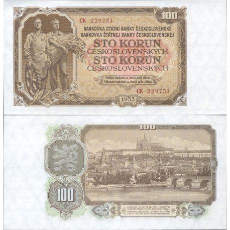 Tchecoslovaquie - Pk N° 86A - Billet de banque de 100 Korun