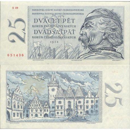 Tchecoslovaquie - Pk N° 89A - Billet de banque de 25 Korun