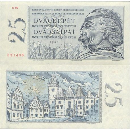 Billets de collection Tchecoslovaquie Pk N° 89A - 25 Korun