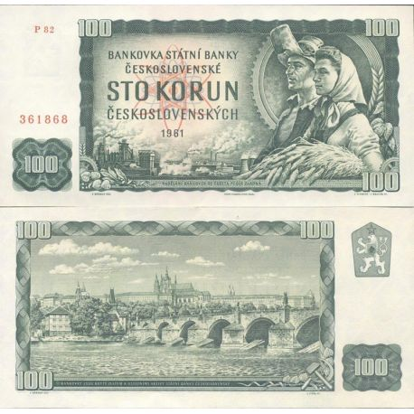 Billets de collection Tchecoslovaquie Pk N° 91 - 100 Korun