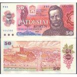 Banknote of collection Czechoslovakia Pick N° 96 - 50 Korun