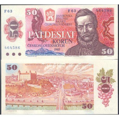 Tchecoslovaquie - Pk N° 96 - Billet de banque de 50 Korun