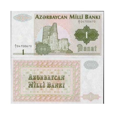 Billet de banque de 1 Manat Pk N° 11 - Billet de collection L.M.D.C Azerbaidjan